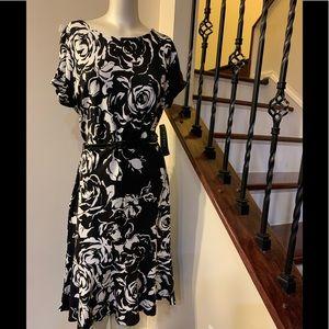 Lauren Ralph Lauren black floral dress
